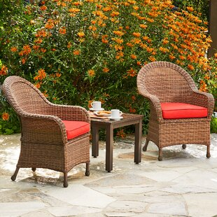 Acree Hacienda Heights 3 Piece Bistro Set with Cushions