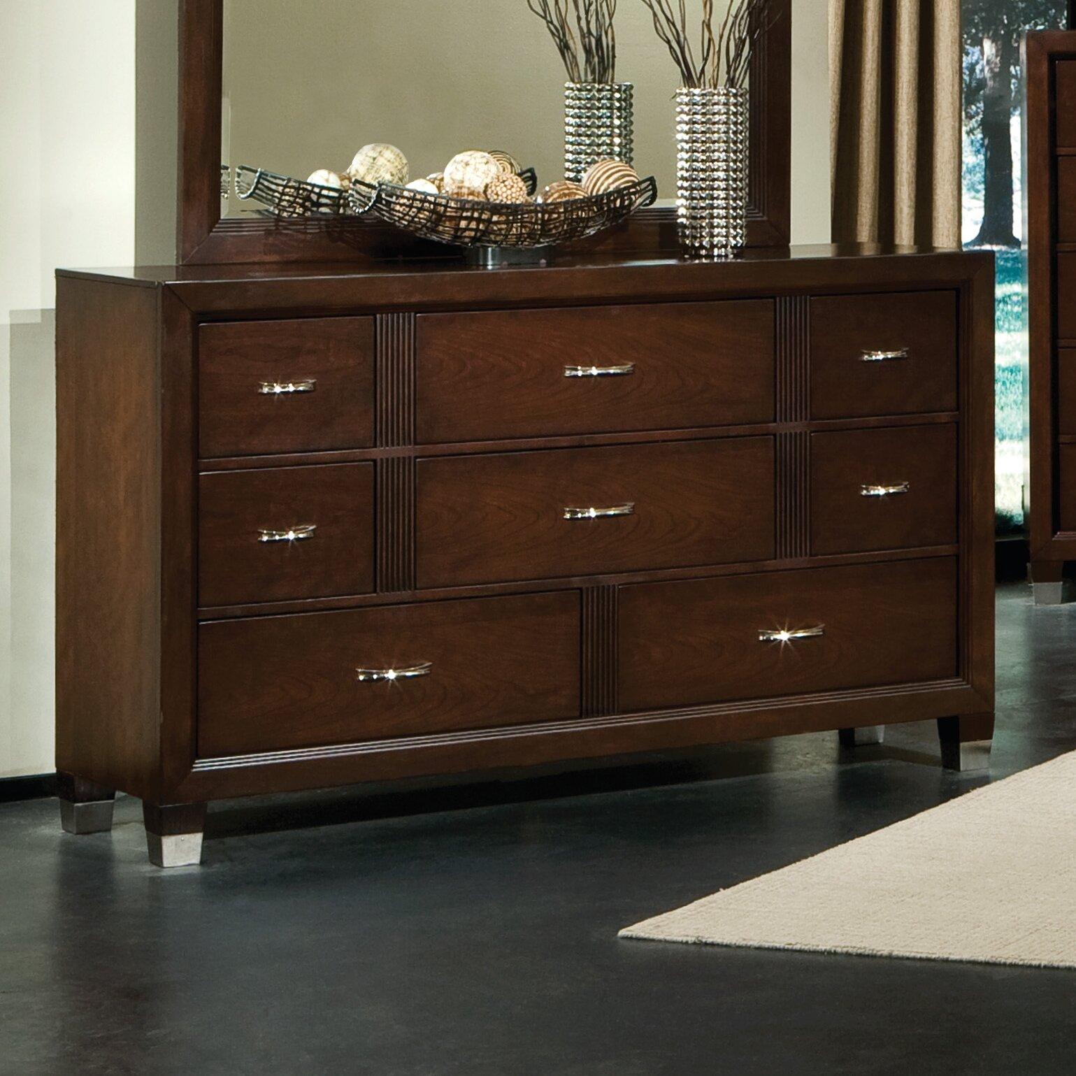Picture of: Standard Furniture Sterling Dresser In Deep Brown Cherry Wayfair
