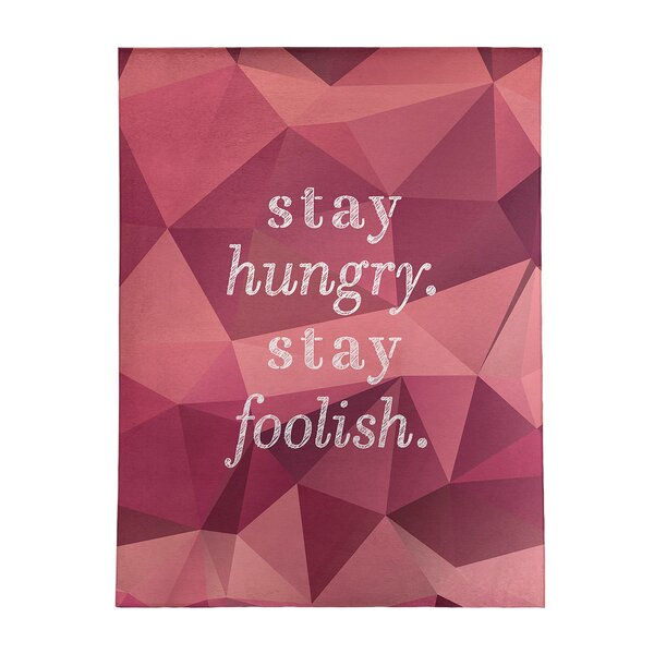 Shopping For Faux Gemstone Stay Hungry Quote Poly Chenille Rug By East Urban Home On Line Rugs Furniture