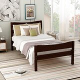 Beyunka Twin Solid Wood Platform Bed by Red Barrel Studio®