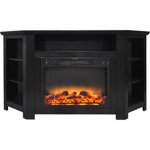 Cesar Electric Fireplace TV Stand Red Barrel Studio