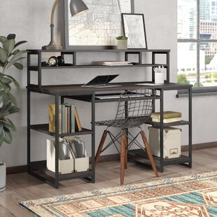 Moriann Solid Wood Computer Desk with Hutch
