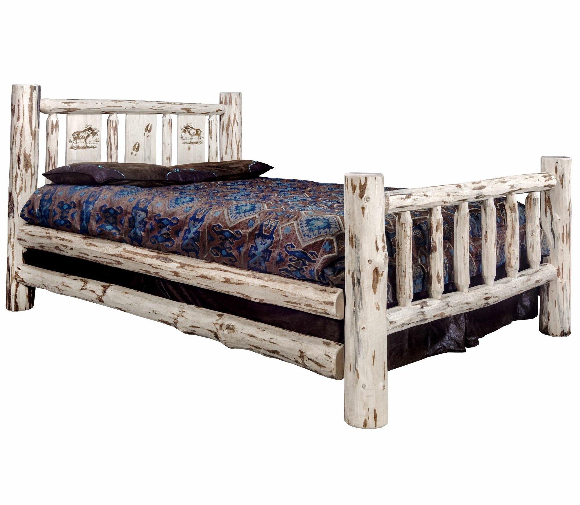 Millwood Pines Antigo Laser Engraved Moose Standard Bed Wayfair