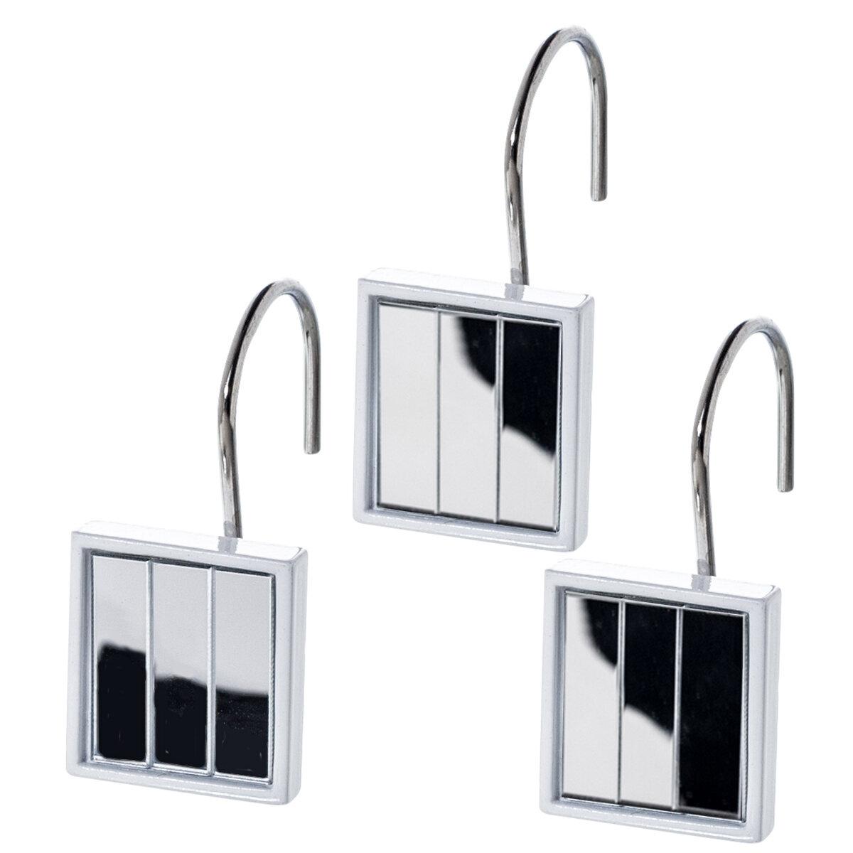 Orren Ellis Quilted Mirror Shower Curtain Hooks Reviews Wayfair