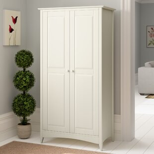 White Practical Kids Brooklyn Short 2 Door Wardrobe Home, Furniture & Diy Wardrobes