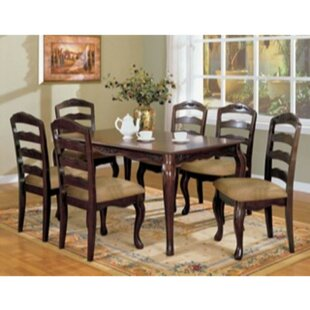 Kamille 7 Piece Solid Wood Dining Set by Alcott Hill