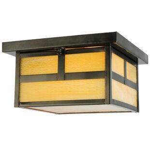 Meyda Tiffany T Mission Hyde Park 2-Light Flush Mount