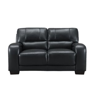 Great deal Hadsell Craft Leather Loveseat by Orren Ellis Reviews (2019) & Buyer's Guide
