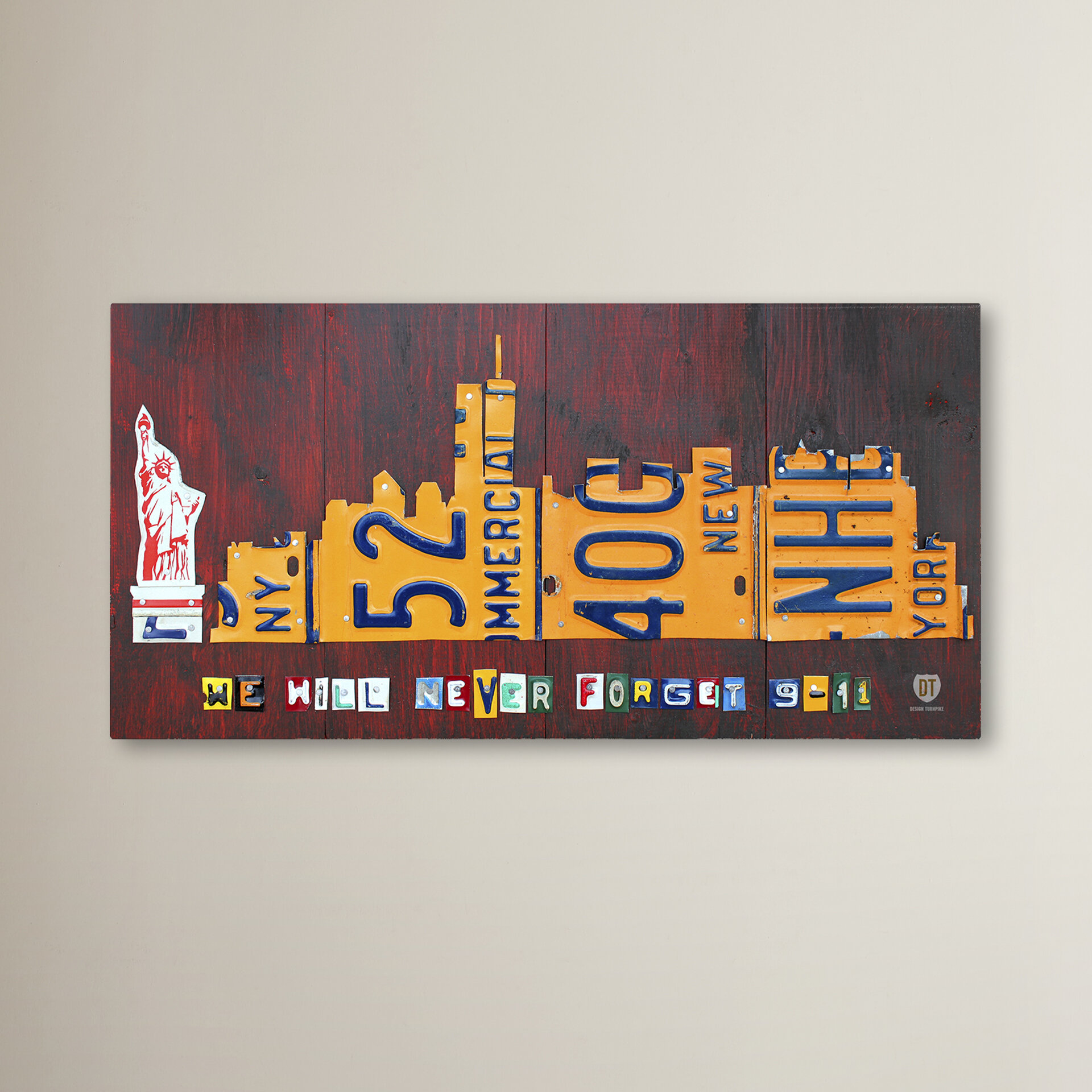 Latitude Run Nyc Skyline 911 Version Graphic Art On Wrapped Canvas Wayfair