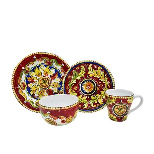 Oberon 16 Piece Dinnerware Set Service for 4  sc 1 st  Wayfair & Red Poppy Dinnerware | Wayfair