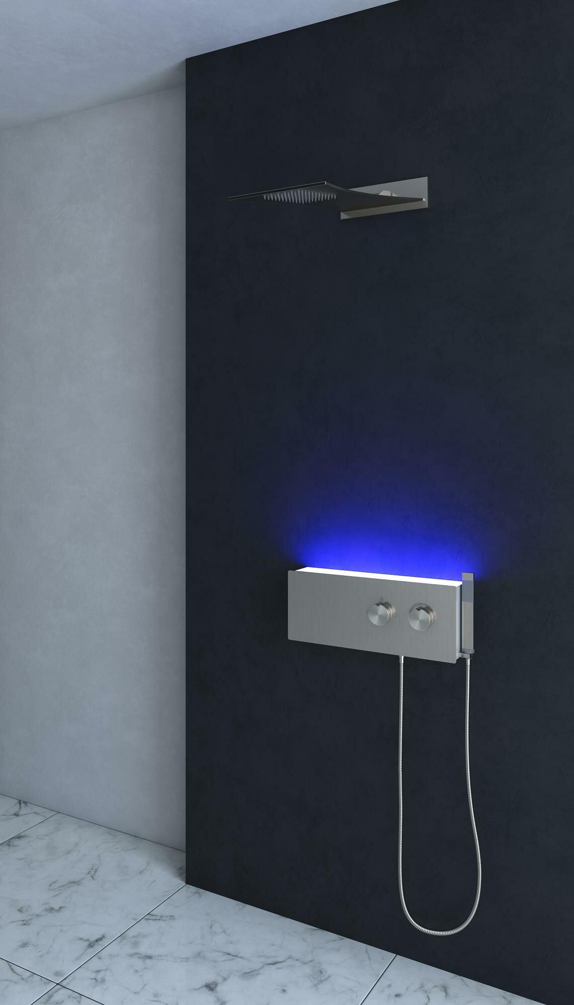 Nezza Mia Thermostatic LED Rain Shower Head Shower Panel | Wayfair