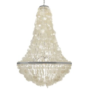 Modern contemporary oyster shell chandelier allmodern manor capiz seashell 3 light chandelier aloadofball Image collections