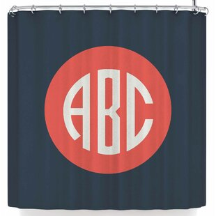 Kess Original Classic Circle Single Shower Curtain