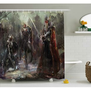 Fantasy World Three Soldiers Single Shower Curtain