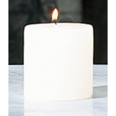 Beachcrest Home Unscented Ivory Pillar Candle Size: 3 x 3