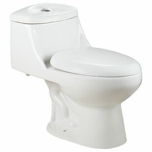 LessCare Dual Flush Elongated One-Piece t..