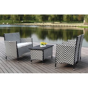 Eurydamas 4 Seater Rattan Sofa Set By Sol 72 Outdoor