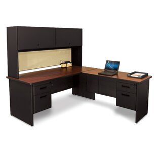 Crivello Return And Pedestal L-Shape Executive Desk With Hutch by Red Barrel Studio Looking for
