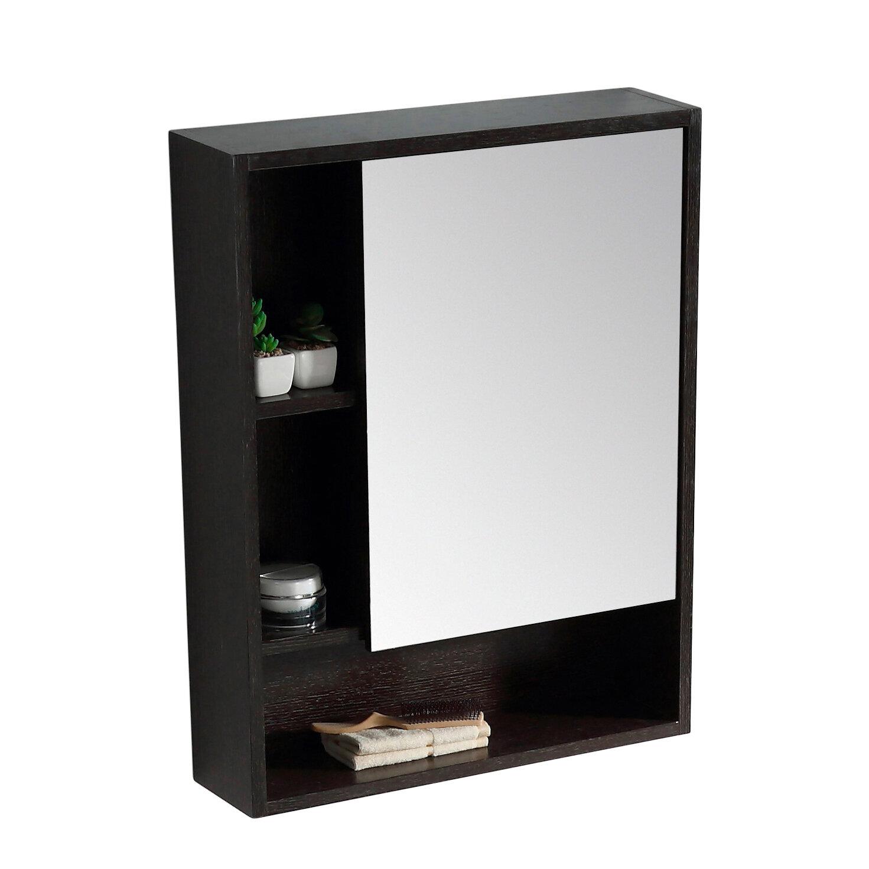 Lee Surface Mount Framed 1 Door Medicine Cabinet With 2 Shelves Reviews Allmodern