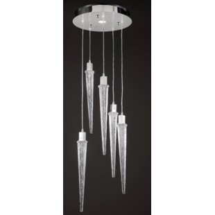 Ice 5-Light Cluster Pendant by Prismatrix?