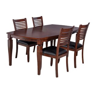 Victoria 5 Piece Solid Wood Dining Set by..