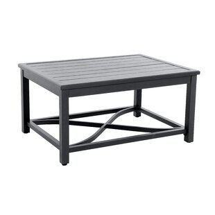 Attalla Post Leg Slats Metal Coffee Table