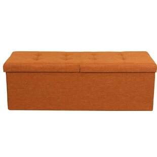 Smart Lift Top Upholstered Storage Ottoman