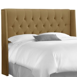 Gerrald Nail Button Tufted Upholstered Wingback Headboard by Willa Arlo Interiors