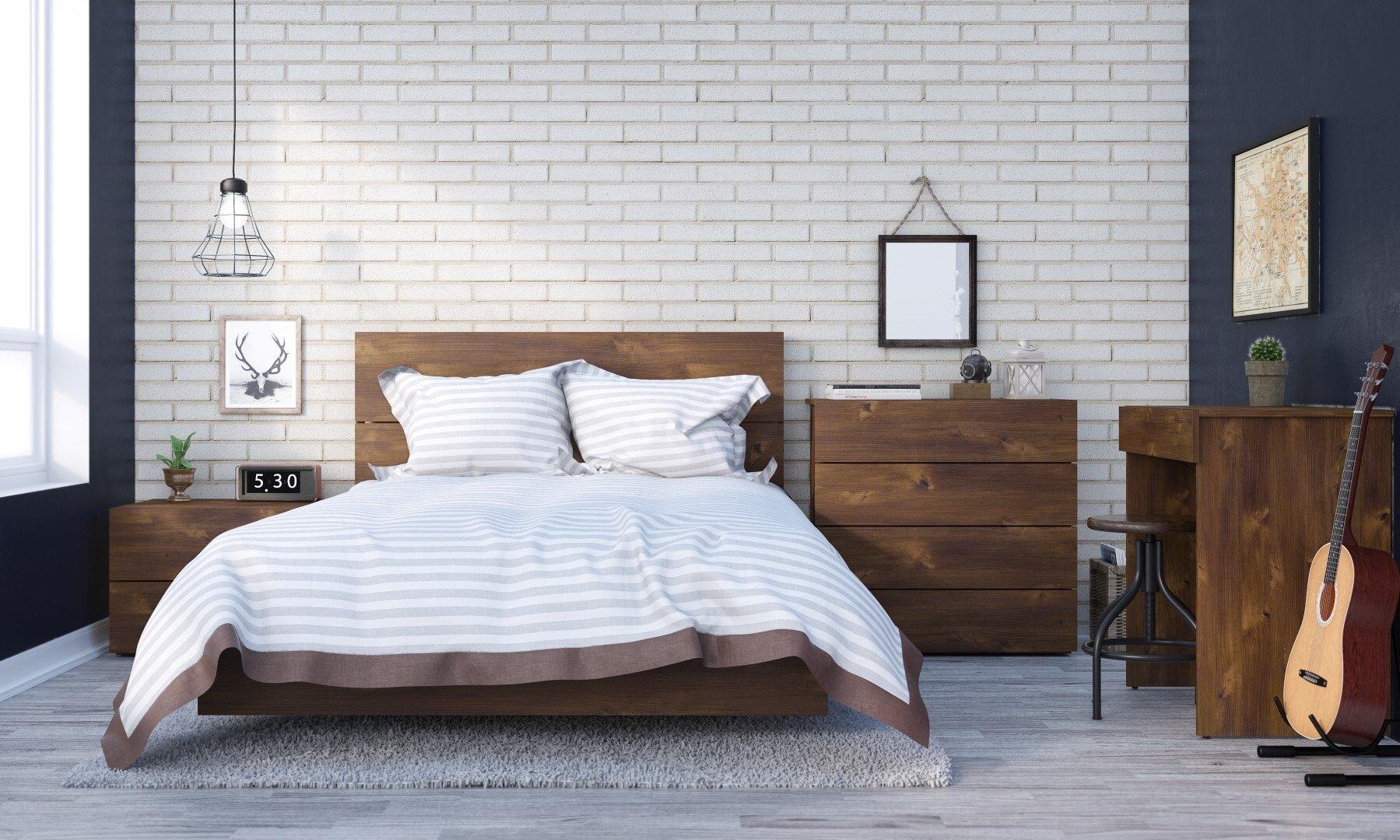 Union Rustic Kaylee Full Double Platform Bed Reviews Wayfair
