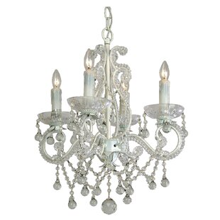 Best Reviews Chon 4-Light Crystal Chandelier By House of Hampton