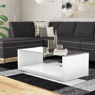 Merrill Glossy-Finish Coffee Table Wade Logan
