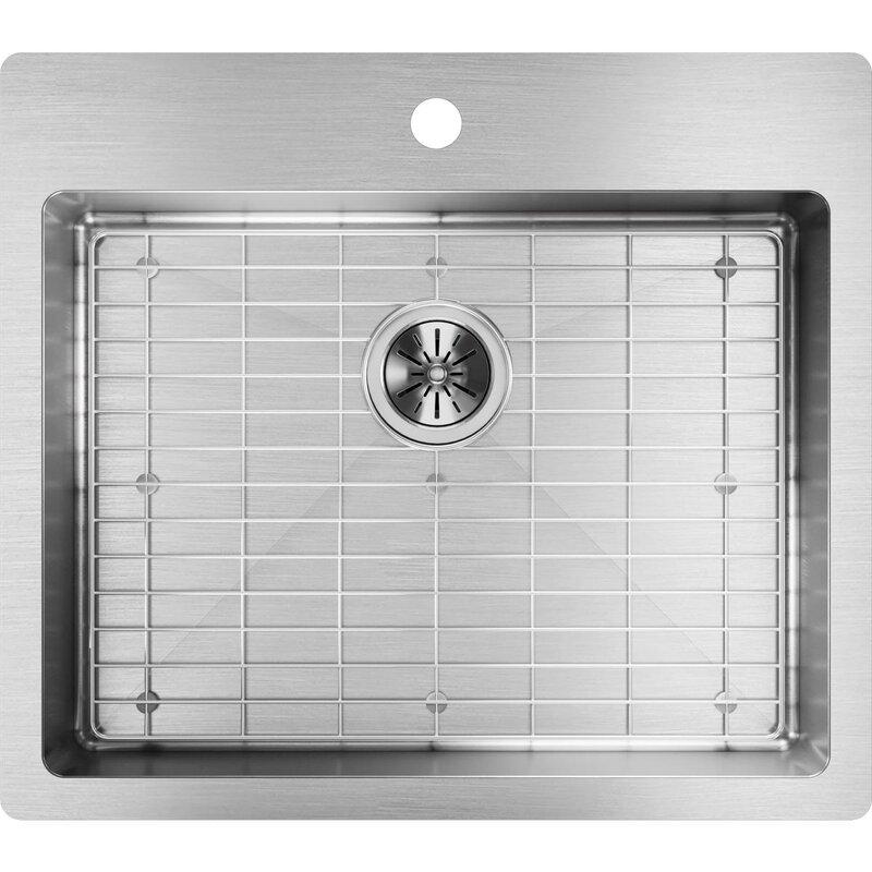 Elkay Crosstown 25 X 22 Drop In Kitchen Sink With Sink Grid Wayfair
