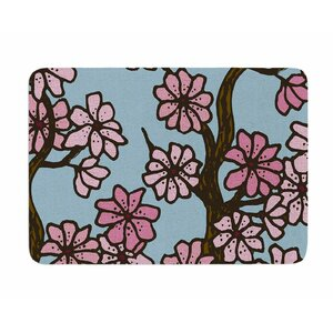 Cherry Blossom Day by Art Love Passion Memory Foam Bath Mat