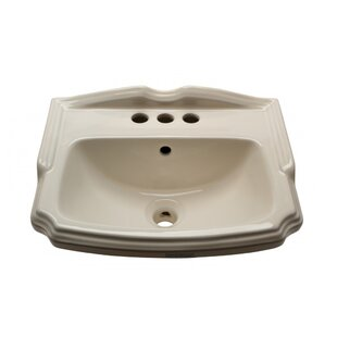 Vitreous China 19 Wall Mount Bathroom Sink with Overflow The Renovators Supply Inc.