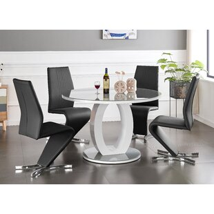 Kantou Dining Set With 4 Chairs By Wade Logan