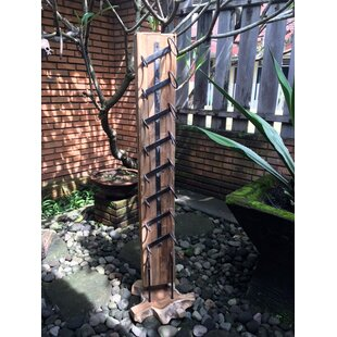 Teak 8 Bottle Floor Wine Bottle Rack by I..