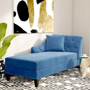 Willa Arlo Interiors Macdonald Velvet Chaise Lounge