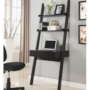 Melodie Ladder Desk With Hutch by Ebern Designs #2