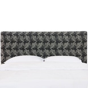 Thomas in Falcon Block Ink Upholstered Panel Headboard by World Menagerie