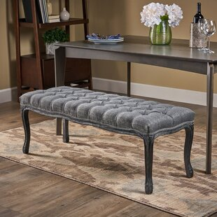Adalyn Tufted Diamond Upholstered Bench by One Allium Way