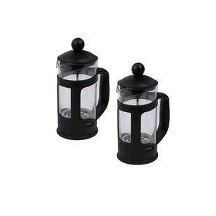 1-Cup Serve Glass French Press Coffee Maker (Set Of 2) by Mind Reader Wonderful