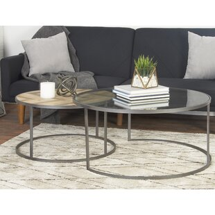 Orkney Contemporary 2 Piece Coffee Table Set Union Rustic