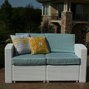 Loggins Patio Loveseat with Cushions