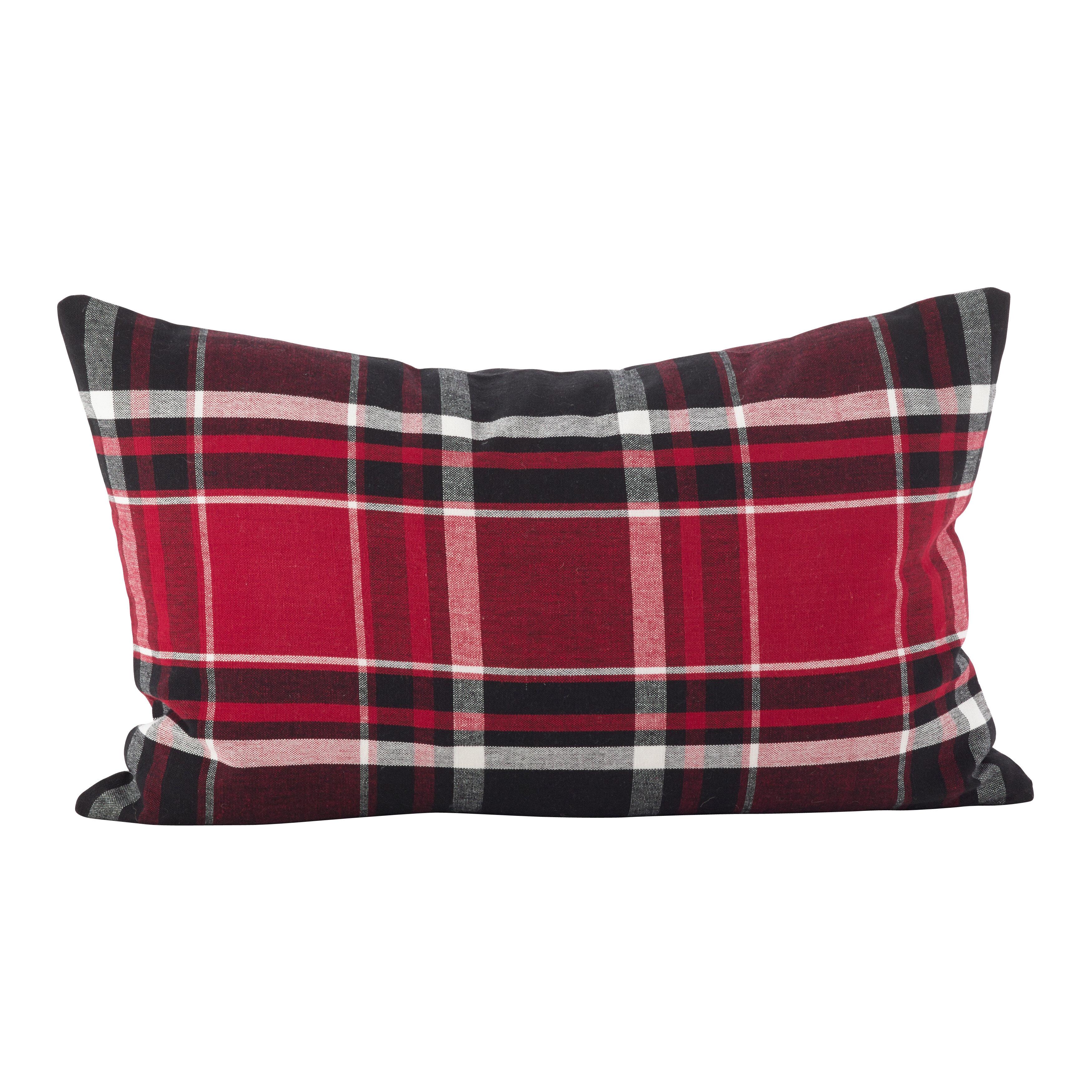 Laurel Foundry Modern Farmhouse Ellery Cotton Down Plaid Lumbar Pillow Wayfair