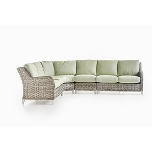 Cape Lookout 5 Piece Rattan Sectional Set With Cushions