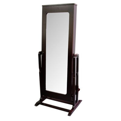 ORE Furniture Modern and Contemporary Shelves Cheval Mirror