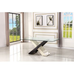 Kirkland Criss Cross Dining Table by Orren Ellis