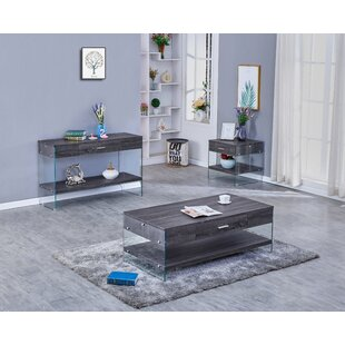 Celestin 3 Piece Coffee Table Set