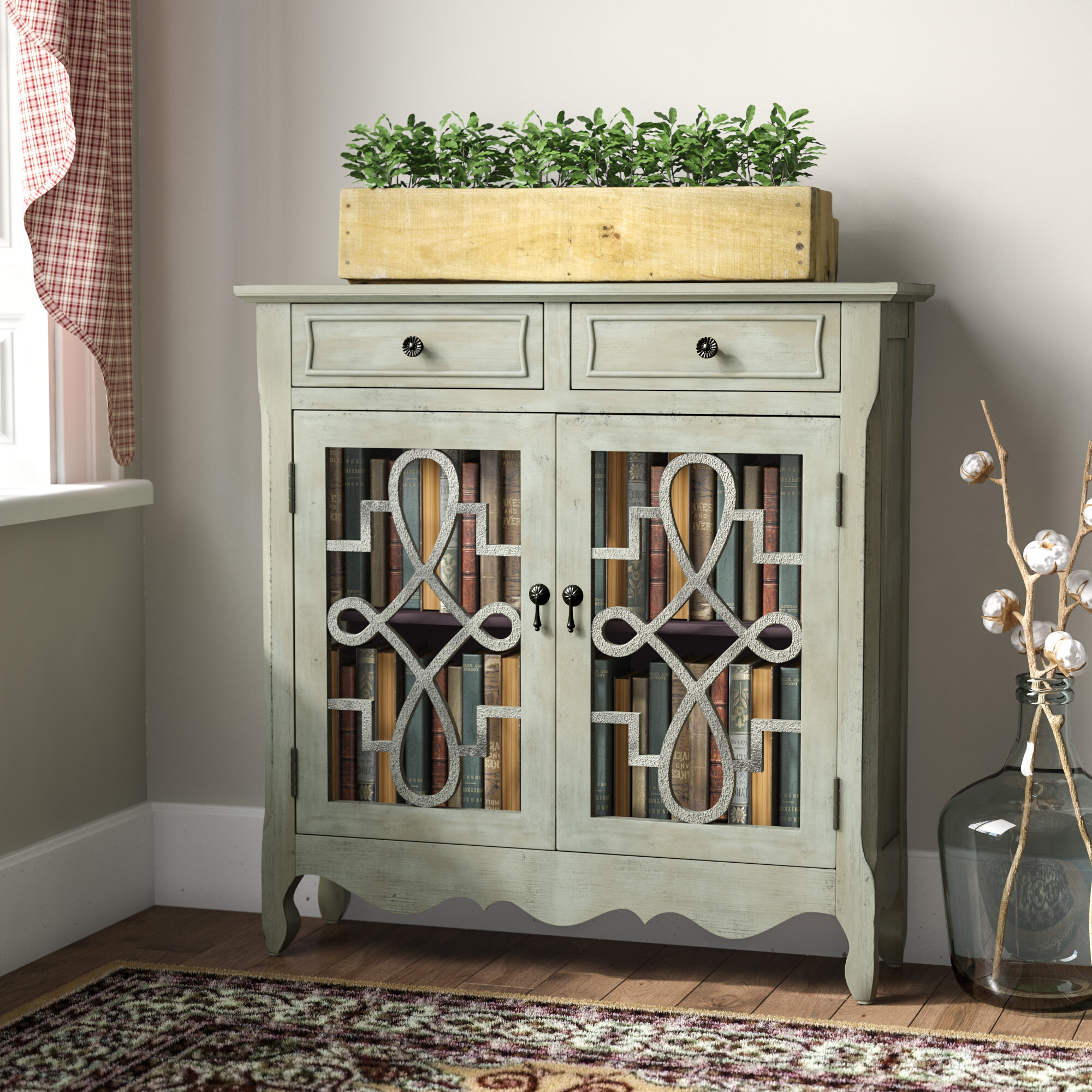 Darby home co alborghus vintage style accent cabinet reviews wayfair ca
