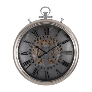 Modern 20.5'' Round Pocketed Wall Clock by 17 Stories